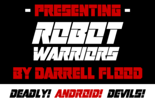 Print on Demand: Robot Warriors Display Font By Dadiomouse 2