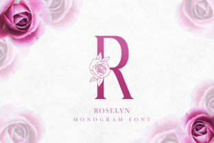 Print on Demand: Roselyn Decorative Font By adeeross21