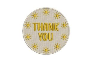 Thank You Sticker Inspirational Embroidery Design By Embroidery Designs