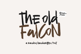 Print on Demand: The Old Falcons Display Font By allouse.studio