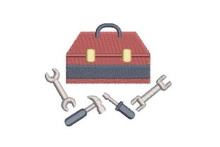Toolbox Work & Occupation Embroidery Design By Embroidery Designs