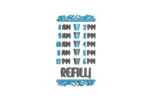 Water Tracker Wellness Embroidery Design By Embroidery Designs