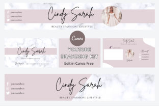 Print on Demand: YouTube Branding Kit Template Canva Graphic Graphic Templates By Ayesha Design