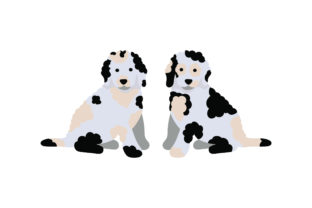 Merle Goldendoodle Puppies Dogs Craft Cut File By Creative Fabrica Crafts