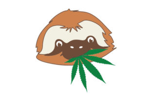 Sloth with Marijuana Leaf Designs & Drawings Craft Cut File By Creative Fabrica Crafts