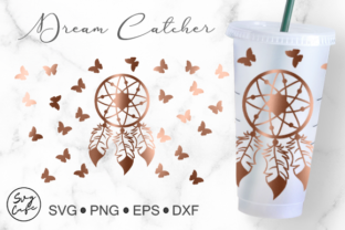 24oz Venti Cold Cup Dream Catcher Graphic Crafts By Svg Cafe