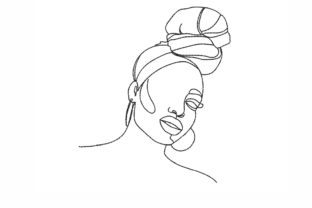 African Woman Beauty Embroidery Design By NinoEmbroidery