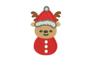 Christmas Reindeer Christmas Embroidery Design By Embroiderypacks