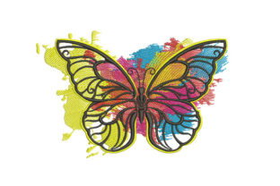 Print on Demand: Colored Butterfly Bugs & Insects Embroidery Design By Samsul Huda