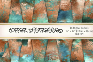 Copper Distressed Graphic Textures By Tara Artisan