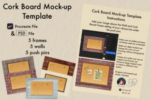 Print on Demand: Cork Board Mock-up Template Graphic Product Mockups By Kimber Shook