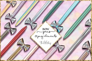 Print on Demand: Digital Planner Stickers Bow Pen Set Graphic Illustrations By TheGGShop