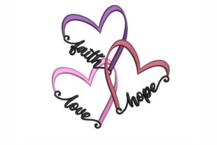 Faith Hope and Love Inspirierend Stickdesign von NinoEmbroidery