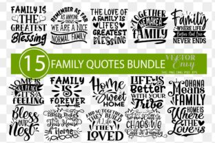 Family Quotes Bundle   Home Svg Graphic Illustrations By VectorEnvy