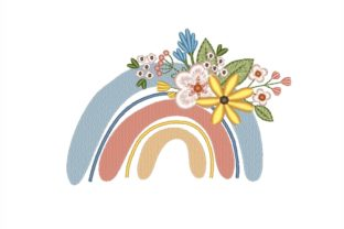 Floral Rainbow Floral & Garden Embroidery Design By NinoEmbroidery