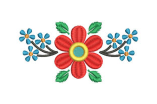 Flower Bouquets Bouquets & Bunches Embroidery Design By Embroiderypacks