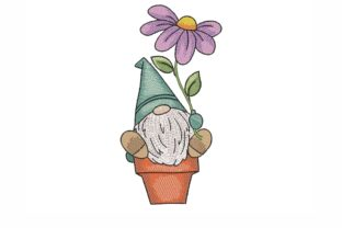 Gnome with a Flower Fairy Tales Embroidery Design By NinoEmbroidery