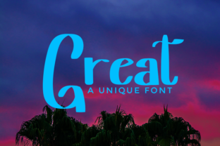 Print on Demand: Great Display Font By merge354 1