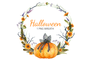 Print on Demand: Halloween Gothic Wreath Graphic Objects By ValinMalin