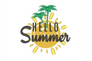 Hello Summer Summer Embroidery Design By NinoEmbroidery