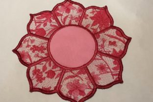 In the Hoop Floral Mug Rug Sewing & Crafts Embroidery Design By Thread Treasures Embroidery