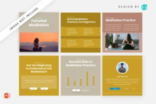 Instagram Feed Coach Focused Meditation Graphic Graphic Templates By 57creative