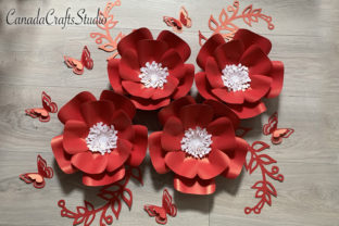 Large 3D Paper Flowers T52 Graphic 3D Flowers By Canada Crafts Studio