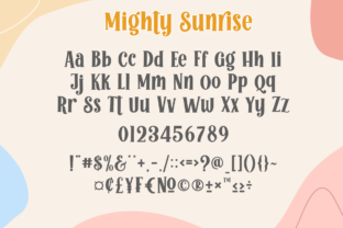 Print on Demand: Mighty Sunrise Display Font By Holydie Studio 2