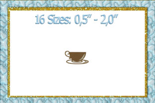 Print on Demand: Mini Coffee Cup Kitchen & Cooking Embroidery Design By larisaetsy