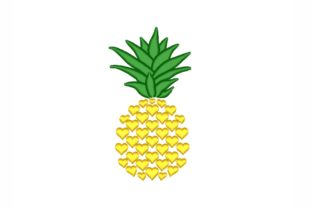 Pineapple Summer Embroidery Design By NinoEmbroidery