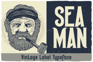 Print on Demand: Seaman Display Font By Vozzy Vintage Fonts And Graphics
