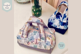 Print on Demand: Sewing Pattern, Mini Duffel Bag, 2 Sizes Graphic Sewing Patterns By Designs Nook