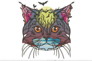 Print on Demand: Tree and Cat Cats Embroidery Design By Samsul Huda