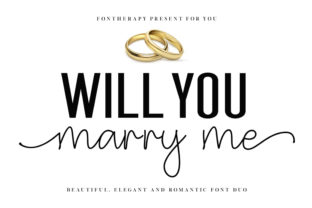 Print on Demand: Will You Marry Me Script & Handwritten Font By fontherapy