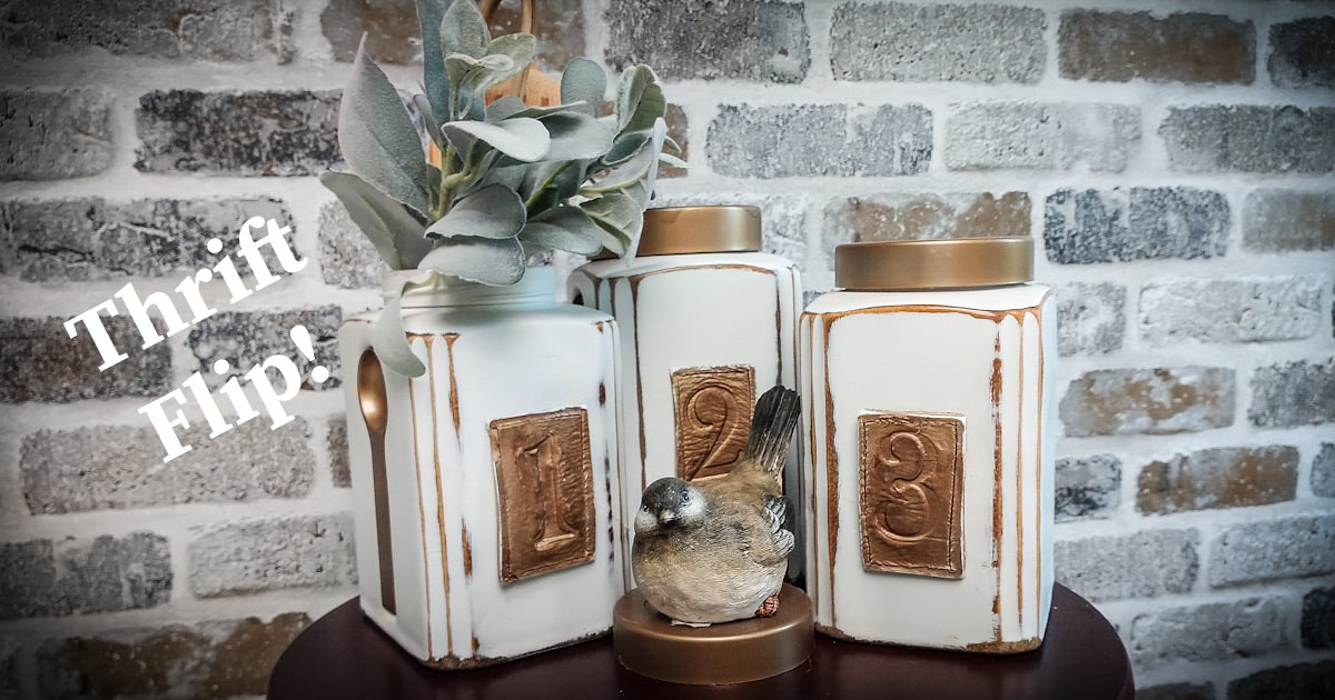 Thrift Flip on These Old Canisters