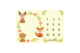 Woodland Animal Blanket Template Baby Craft Cut File By Creative Fabrica Crafts