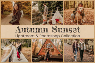 Print on Demand: Autumn Sunset Lightroom Photoshop Edit Graphic Actions & Presets By 3Motional