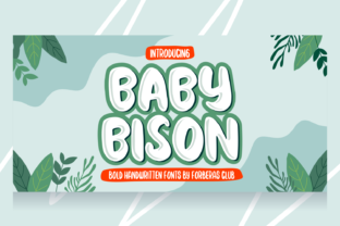 Print on Demand: Baby Bison Display Font By Forberas Club