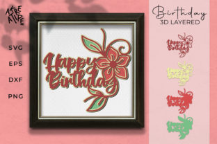 Birthday 3D Paper Cutting SVG Graphic 3D SVG By akreatipe
