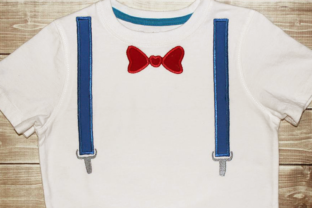Bow Tie and Suspenders Babies & Kids Embroidery Design By DesignedByGeeks