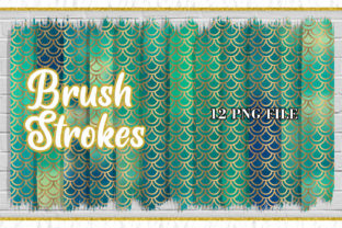 Brush Strokes Clipart, Mermaid Scales Graphic Illustrations By Artnoy