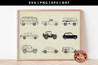 Print on Demand: Classic Cars Silhouette Svg Bundle Graphic Crafts By ChimpArtsy