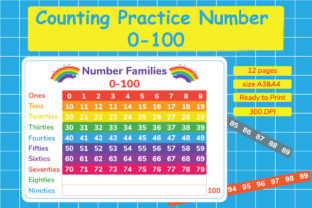 Counting Practice Number 0-100 Graphic Teaching Materials By Kids Zone
