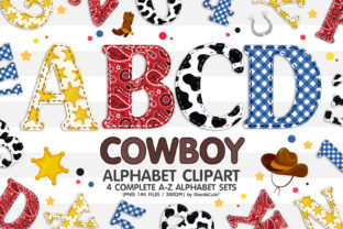 Print on Demand: Cowboy Alphabet Letters Sublimation PNG Graphic Illustrations By GoodsCute