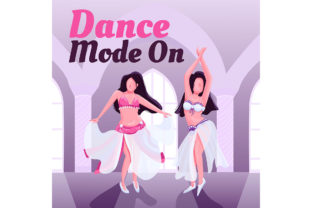 Print on Demand: Exotic Oriental Dancers Show Post Mockup Graphic Product Mockups By natalia1891991