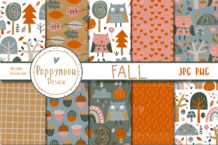 Print on Demand: Fall Paper Set Graphic Patterns By poppymoondesign