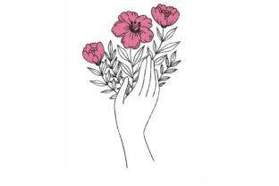 Floral Hands Beauty Embroidery Design By LizaEmbroidery