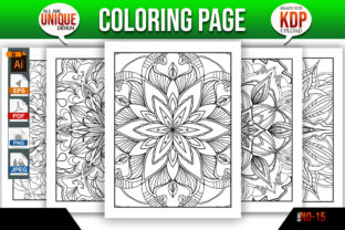 Print on Demand: Flower Coloring Page Interior Kdp Bundle Graphic Coloring Pages & Books Adults By Mishukhatun