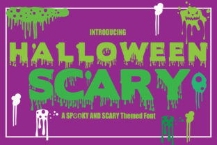 Print on Demand: Halloween Scary Display Font By KtwoP