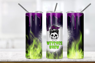 Halloween Witch Brew 20oz Skinny Tumbler Graphic Patterns By Army Custom